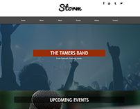 Storm Musician/Music Band Website Concept