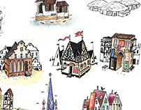 imaginary cities - travel magnets