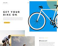 Velor - homepage design