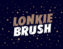 Lonkie Brush - Handwriting typeface