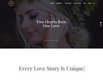 Wedding WordPress Theme - Home-Page by Visualmodo