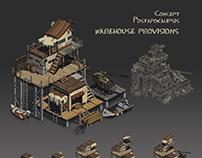 Concept postapokalipsis WAREHOUSE PROVISIONS