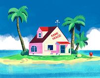 Kame House Digital Paint