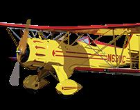 High Plane - Bi Plane Illustration