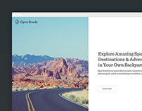 Open Road - Blog Concept