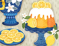 Lemon Zesty Food Pattern Illustration Design