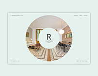 R-ESTUDIO - Web design for interior design studio