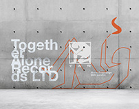 Together Alone Records - visual identity