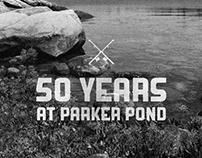 Tshirt Badge Design - 50 Years at Parker Pond