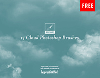 15 High Quality Cloud Photoshop Brushes