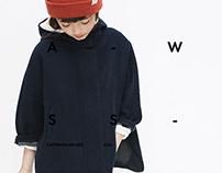 Z     A     R     A  /web site. Concept.