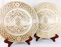 Celtic Tree of Life Decorative Plates
