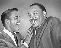 Sammy Davis & MLK Digital Art painting by Wayne Flint