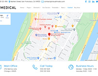 Contact Map Section - Medical WordPress Theme