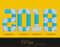 2018 PVC text Illustrarion