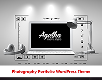 Agatha Fullscreen Photography WordPress Theme