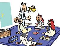 DKSA #2 - Saudi Culture Illustrations