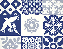 Portuguese Azulejos Tiles patterns collection