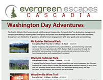 S.A.C. partnership with Evergreen Escapes.