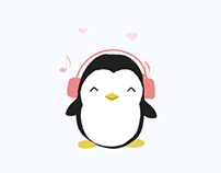 Penguin animated stickers