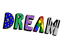 'Dream' font by Bridie Fry