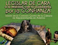 Afiche de la sesión de la comisión quinta