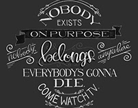 Hand Lettering Quote - Morty Smith Wisdom