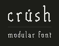 crúsh | Modular font