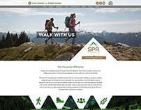 Web design for hiking, mountain exploring company