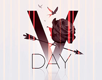 Minimalist Vday Psd Flyer Template
