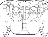 Line Drawing of a controller