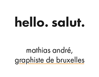 mathias andré, personal identity & business card.