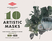 10 Artistic Watercolour Masks