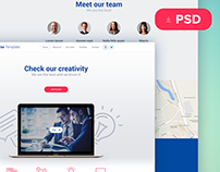 Pax free PSD template