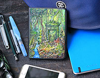 "Clay cover notebook ""Angkor Wat"" of Threedots Vietnam"
