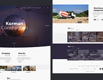 Korman Construction - Web Design