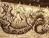 Live painting at Design Festa
