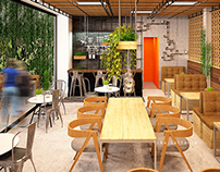 Green Cafe with Terrace