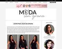 Logo e Layout - Blog Moda Sem Grana