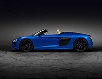Audi R8 V10 Spyder - arablue matte effect