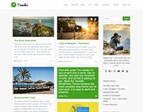 Blog Masonry Right Sidebar - Traveler WordPress Theme