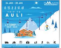 Skiing Trip Poster