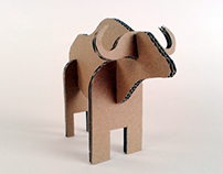 Zabawki z kartonu – Bawół / Cardboard toys – Buffalo