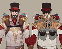 concept art, steampunk doctor