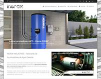 Sitio web de Inerox de España.