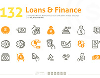 Loans & Finance Premium Vector Icons