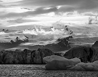 Isländischer Sommer in schwarzweiß