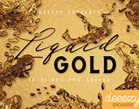 12 Free Liquid Gold Shapes