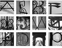 Russian alphabet \\ Metallic lattice