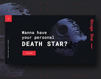 Death Star Landing Page Concept